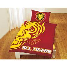 SCL Tigers mit grossem Tigerkopf
