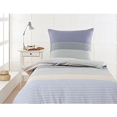 Linge de lit en satin ESPRIT Winter blue