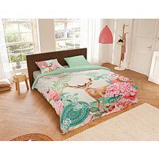 Bettwäsche mit Hirsch und Mandala-Blumen-Muster