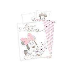 """Bettwäsche mit  """"Minnie Mouse"""" in Weiss-Rosa"""