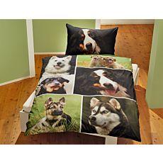 Bettwäsche mit süssen Hundegesichtern