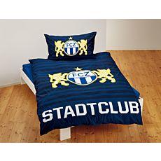 Bettwäsche FC Zürich in dunkelblau gestreift