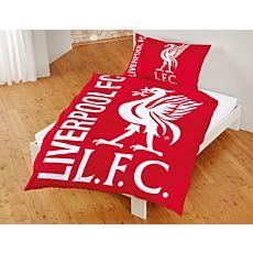 FC Liverpool Bettwäsche mit Vereinslogo in Rot-Weiss