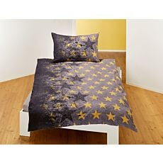 Bettwäsche mit grossen und kleinen Sternen