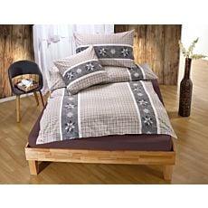 Linge de lit agrémenté d'edelweiss