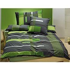 Bettwäsche mit grünen Streifen