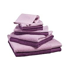 Linges éponge, lot de 10 mûre-lilac