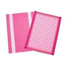 Küchentücher in pink mit zwei Flamingo-Dessins