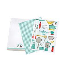 Küchentücher bedruckt im 3er-Pack