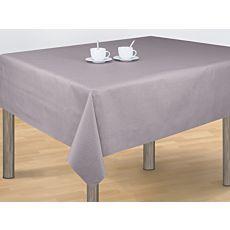 Tischdecke taupe mit Muster