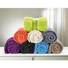 Couvertures douillettes en fibre polaire, divers coloris à choix