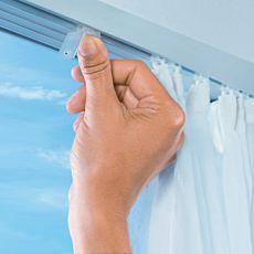 Arrêts clic-stop pour tringle à rideaux