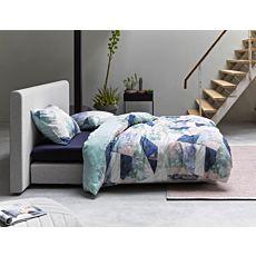 Linge de lit ESSENZA en satin à motif multicolore