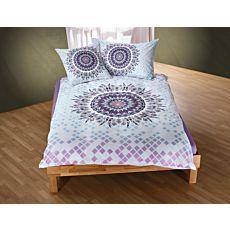 Linge de lit avec attrape-rêves mandala, violet et turquoise