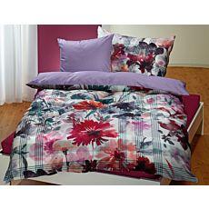 Linge de lit à beau motif automnal genre aquarelle