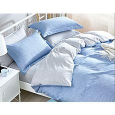 Linge de lit à fines rayures