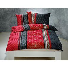 Parure de lit au motif moderne en noir-rouge