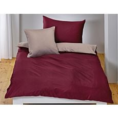 Linge de lit en satin uni double face
