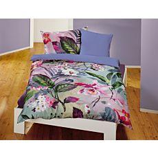 Linge de lit avec grand motif de fleurs