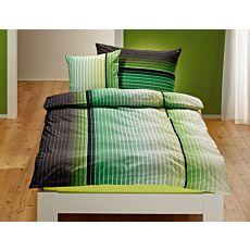 Linge de lit à carreaux en dégradé de couleurs