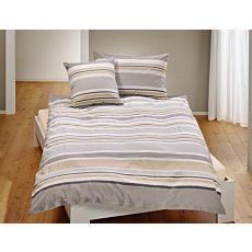 Parure de lit avec mélange de rayures grises