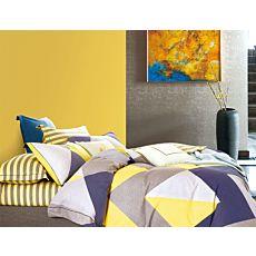 Linge de lit à rayures grand format