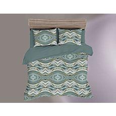 Linge de lit avec motif de vagues marbré