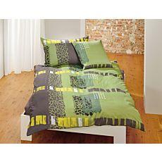 Linge de lit au motif géométrique