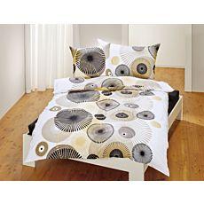 Linge de lit avec motif artistique de cercles