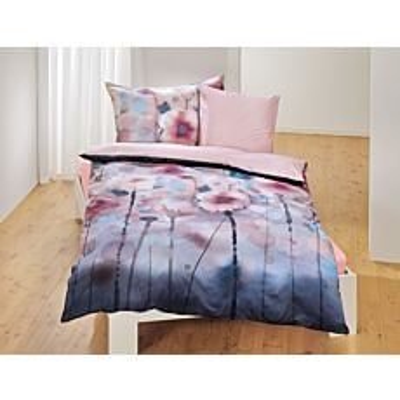Linge de lit avec motif floral genre aquarelle