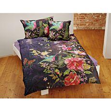 Linge de lit orné d'un motif fleuri aux superbes couleurs