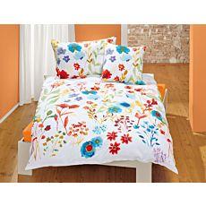 Linge de lit au motif floral joliment coloré