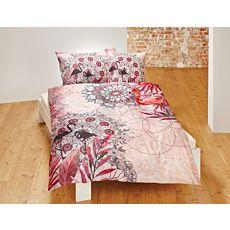Linge de lit avec motif de mandala et flamants