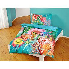 Linge de lit aux motifs colorés du monde sous-marin