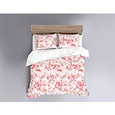 Linge de lit à motif fleuri genre aquarelle