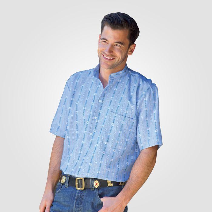 Chemise Edelweiss à manches courtes en flanelle