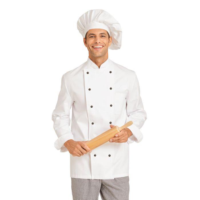 Blouse de cuisinier avec des boutons élégants