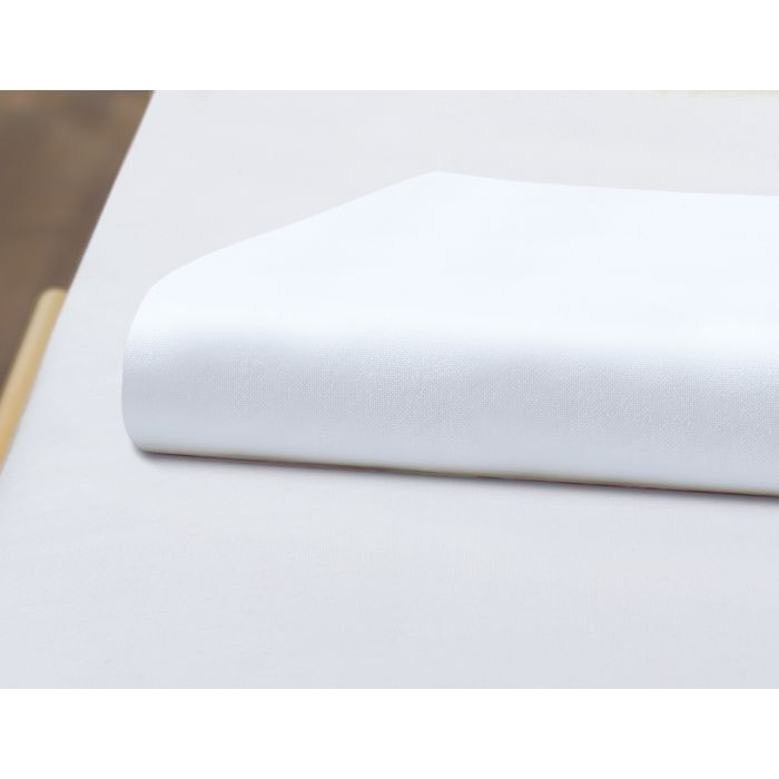 Baumwoll-Unterleintuch weiss, 170x260 cm