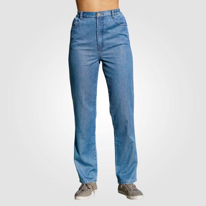 Jeans mit seitlichen Elasteinsätzen