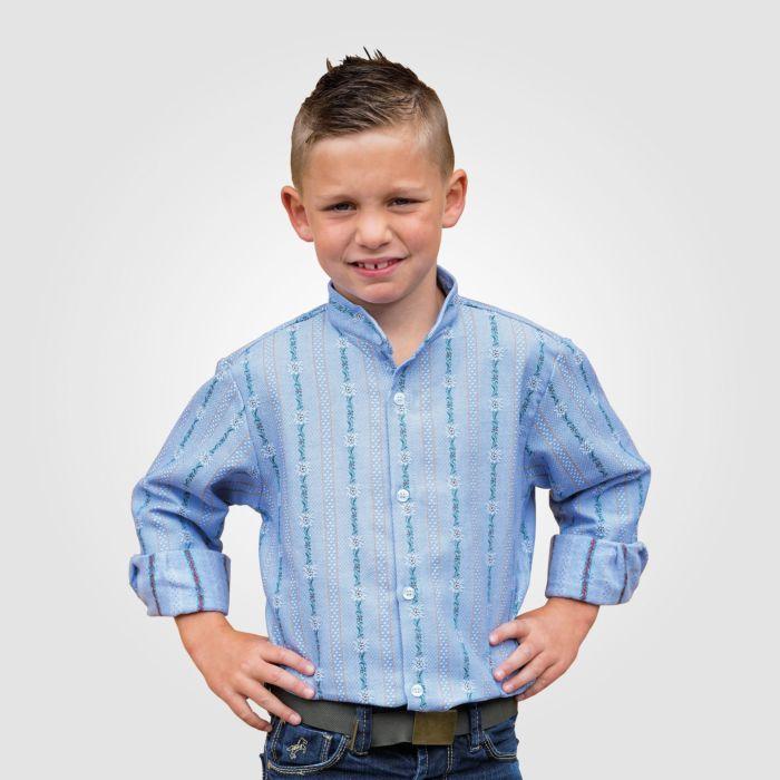 Kinder Edelweiss-Hemd, ohne Kragen