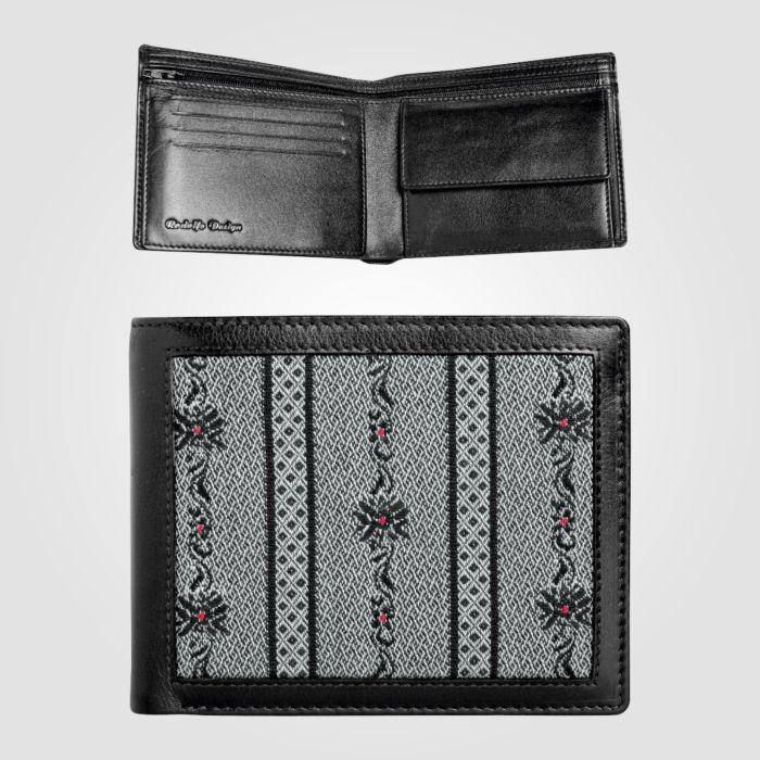 Edelweiss Portemonnaie anthrazit