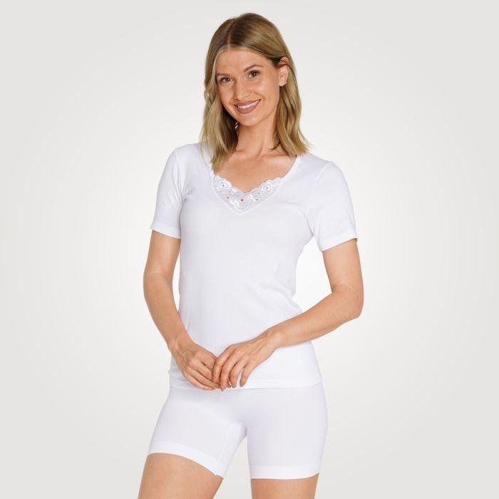 Feinripp-Unterhemd Damen Duo-Pack