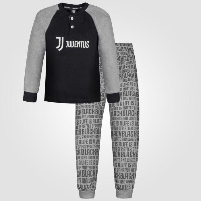 Kinderpyjama Juventus schwarz-anthrazit