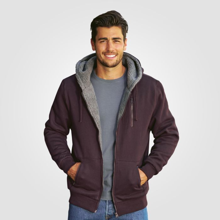 Fleece-Kapuzen-Jacke
