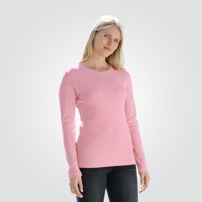 Rundhals-Shirt langarm
