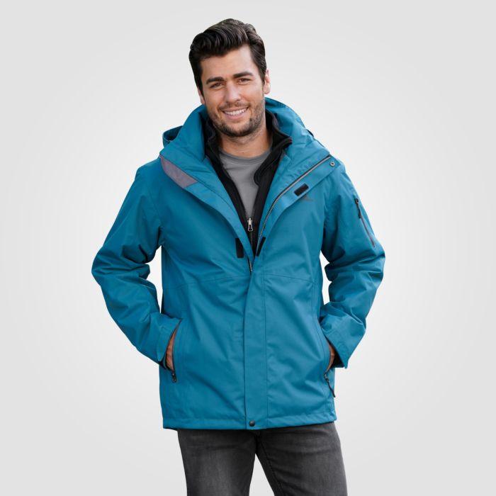 Herren praktische Outdoor-Jacke 3 in 1