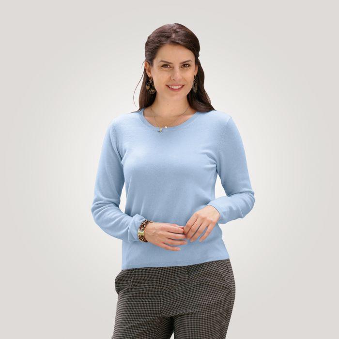 Cashmere Damen-Rundhalspullover