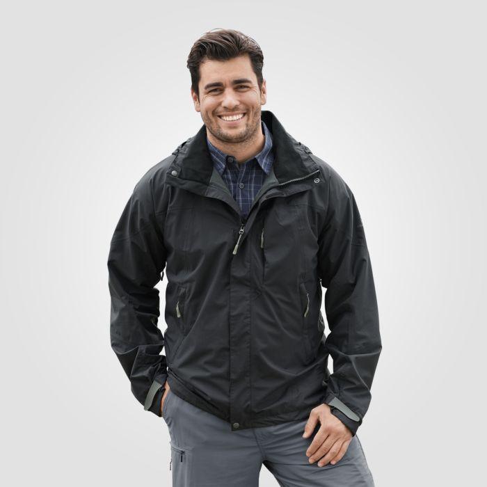 Veste outdoor pour homme capuchon amovible