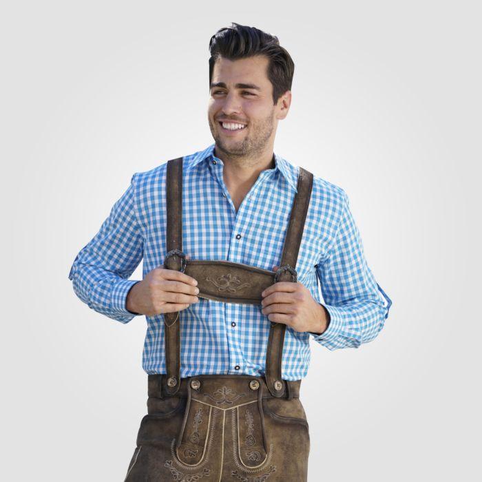 Chemise bavaroise à carreaux