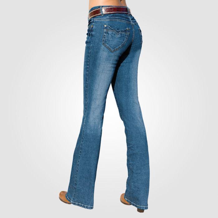 Damen Bootleg-Jeans